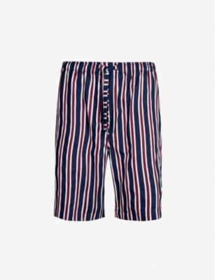 DEREK ROSE Royal relaxed-fit cotton pyjama shorts