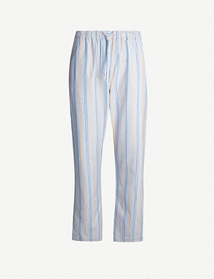 DEREK ROSE Arctic striped cotton trousers