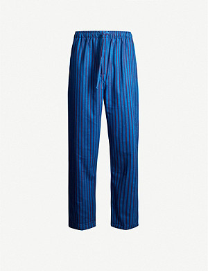 DEREK ROSE Basel cotton-flannel pyjama bottoms