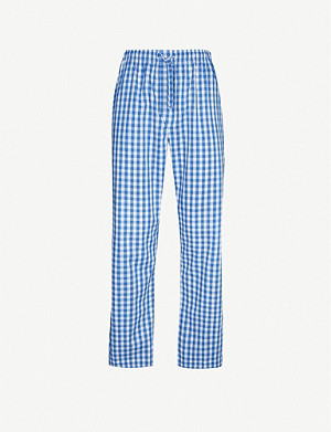 DEREK ROSE Barker 21 cotton lounge trousers