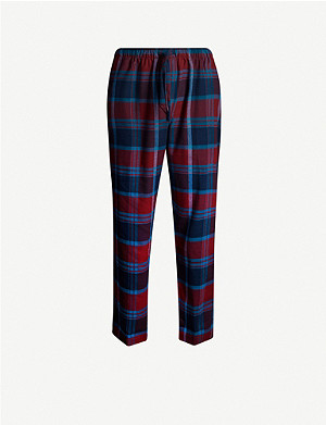 DEREK ROSE Kelburn woven lounge trousers