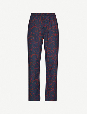 DEREK ROSE Ledbury cotton pyjama bottoms