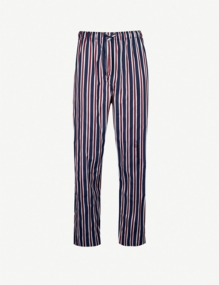 DEREK ROSE Royal cotton pyjama bottoms