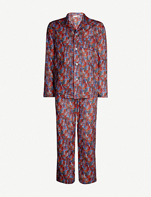 DEREK ROSE Ledbury floral-print cotton pyjama set