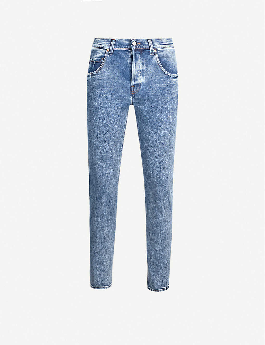 GUCCI: Faded tapered jeans
