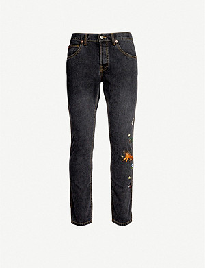 GUCCI Embroidered straight jeans