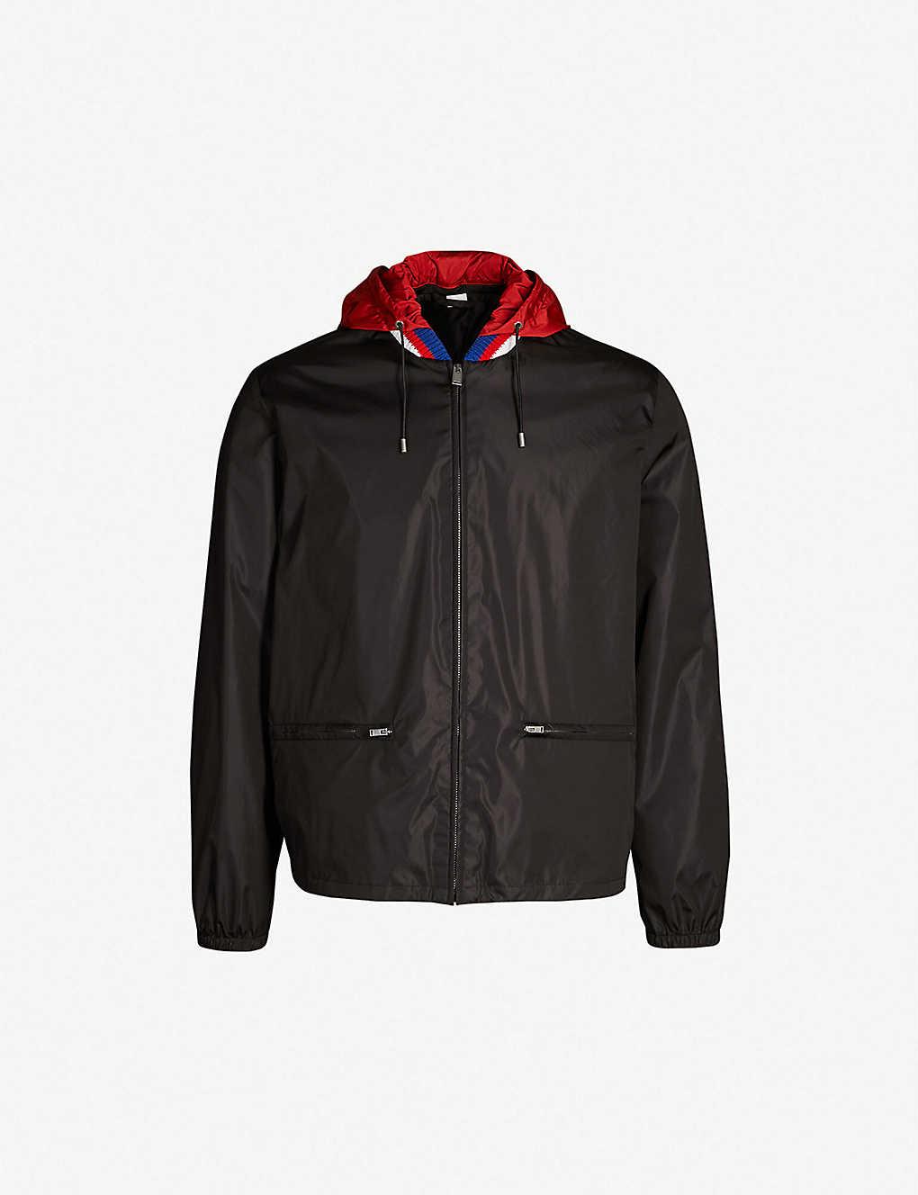 b4a0b1aa7 GUCCI - Logo-print shell windbreaker jacket | Selfridges.com