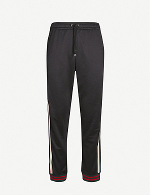 GUCCI Side-stripe stretch-jersey jogging bottoms