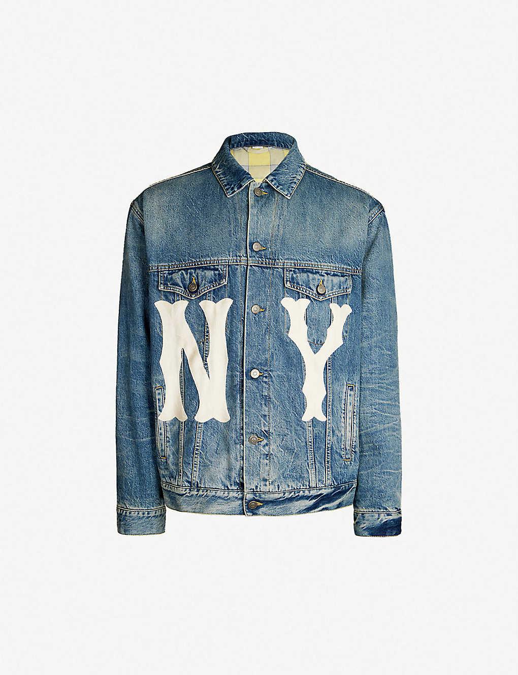 6f84f929e33e GUCCI - NY Yankees™ patch denim jacket | Selfridges.com