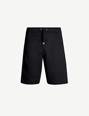 GUCCI Side-stripe logo-print crepe shorts