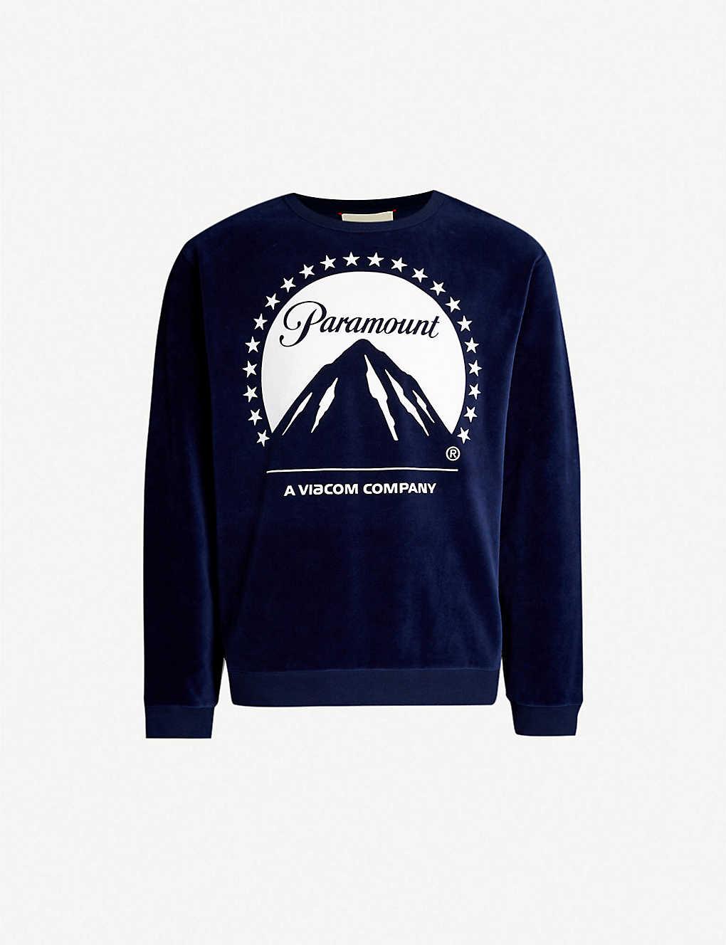 0030aa502f GUCCI - Graphic-print velvet sweatshirt