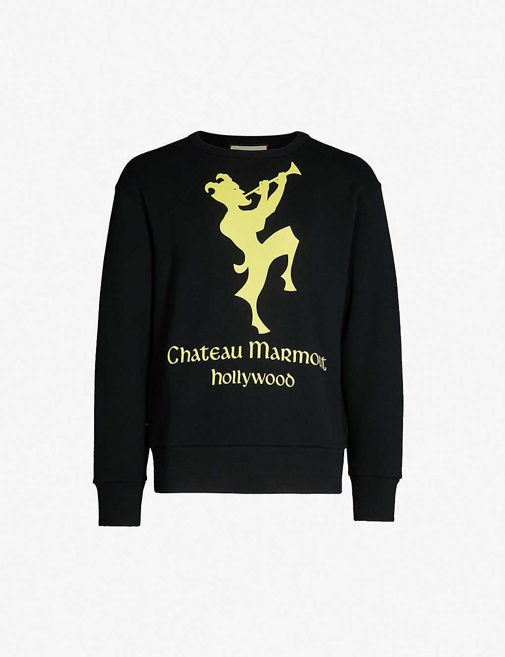 0b06b111ed8a GUCCI - Chateau Marmont cotton-jersey T-shirt | Selfridges.com