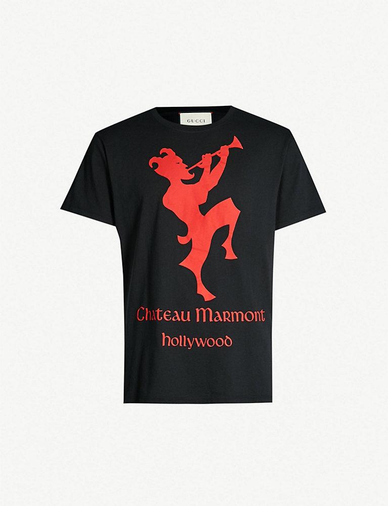 c392b5dae GUCCI - Chateau Marmont-print cotton-jersey T-shirt | Selfridges.com