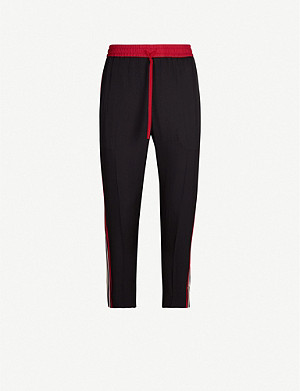 GUCCI Side-trim satin tapered jogging bottoms
