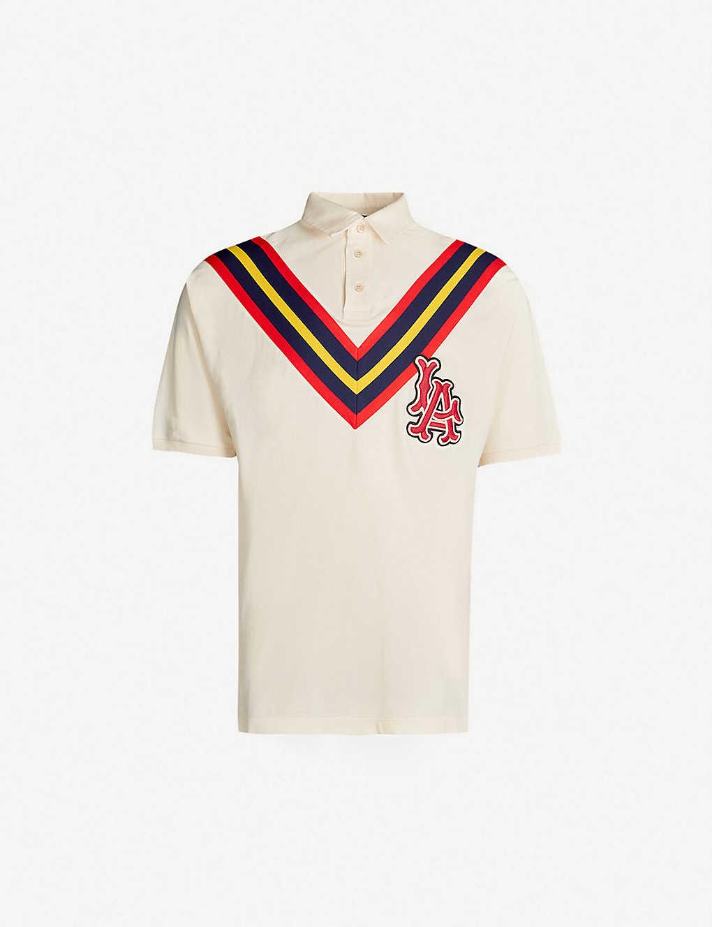 3869108fb GUCCI - LA Angels™ cotton polo shirt | Selfridges.com