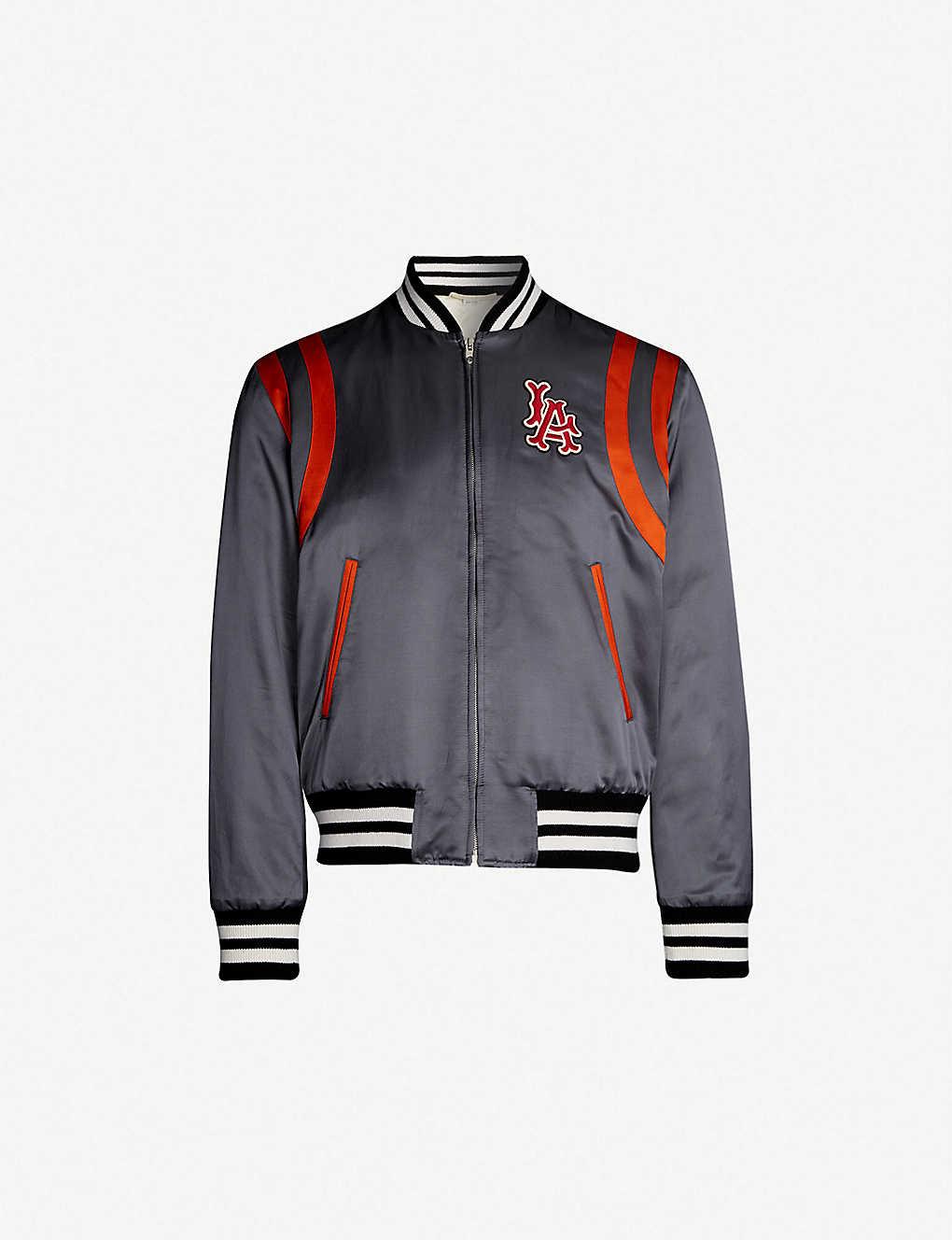 327168420 GUCCI - LA Angels™ satin bomber jacket | Selfridges.com