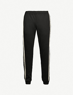 GUCCI GG-print tapered jersey jogging bottoms