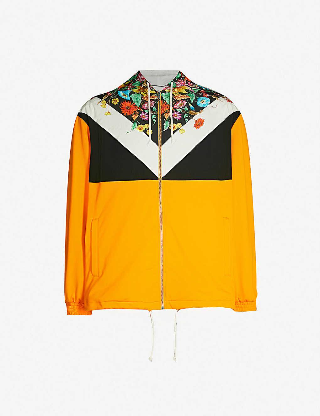 d938bac42 GUCCI - Floral-print shell hooded jacket | Selfridges.com