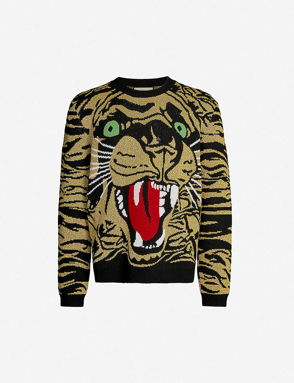 fd342d88d GUCCI - Tiger metallic wool-blend jacquard jumper | Selfridges.com