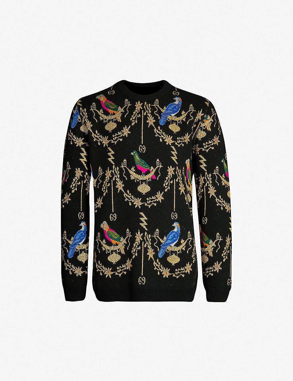 e10479468d9 GUCCI - Voliére jacquard wool-blend jumper