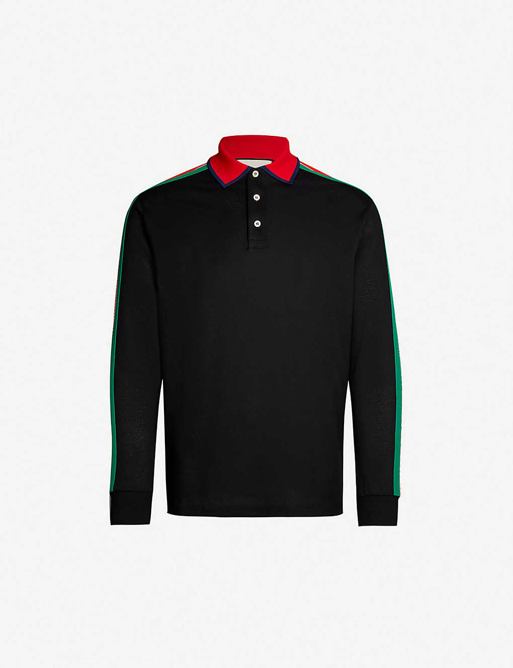 5ae0d92310a3 GUCCI - Logo-print cotton-piqué polo shirt | Selfridges.com