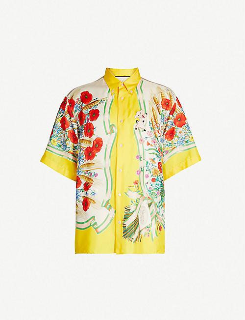 321cbb2dbb9 GUCCI Floral-print oversized silk-twill shirt. Quick view Wish list