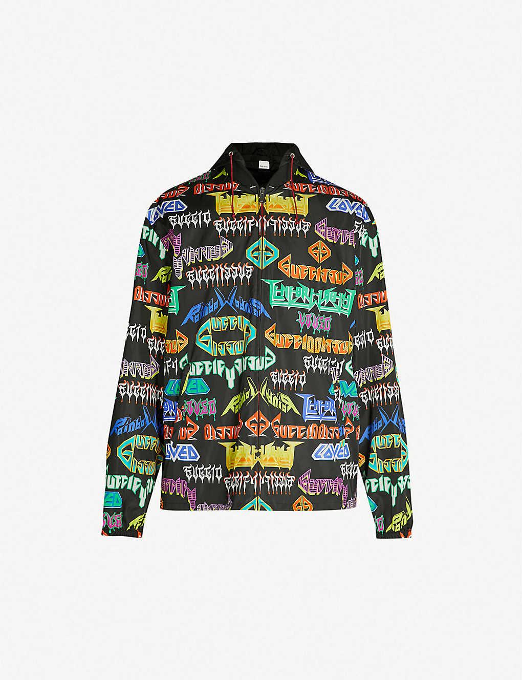 903f4de5b GUCCI - Metal slogan-print shell jacket | Selfridges.com