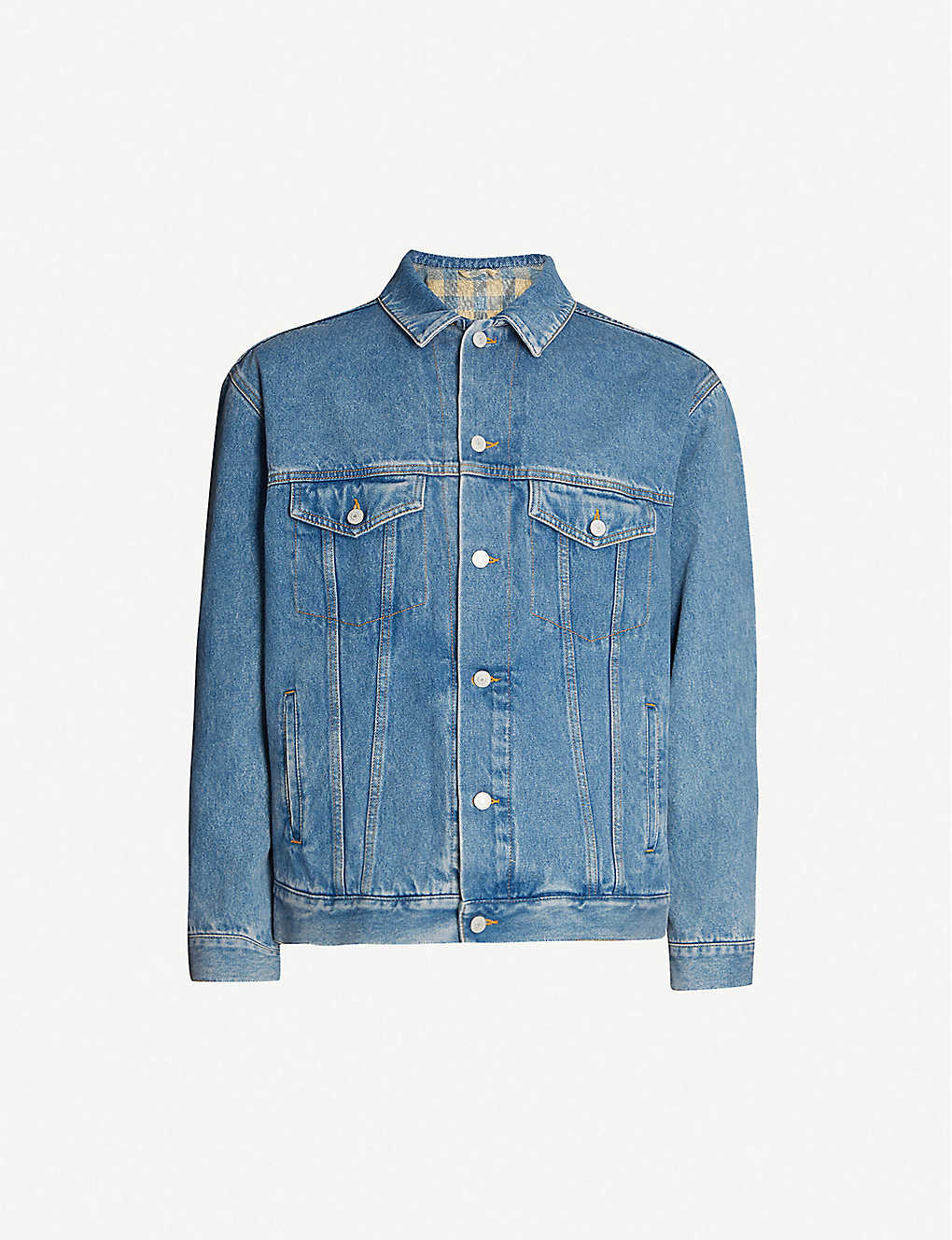 c6db49d70 GUCCI - Band-embroidered denim jacket | Selfridges.com