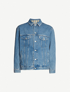 GUCCI Band-embroidered denim jacket