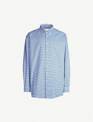 GUCCI Gingham oversized cotton shirt