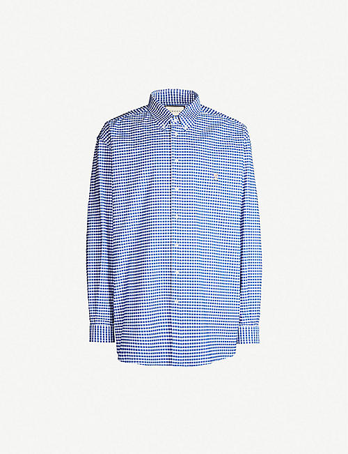 11c8088ebea GUCCI Gingham oversized cotton shirt
