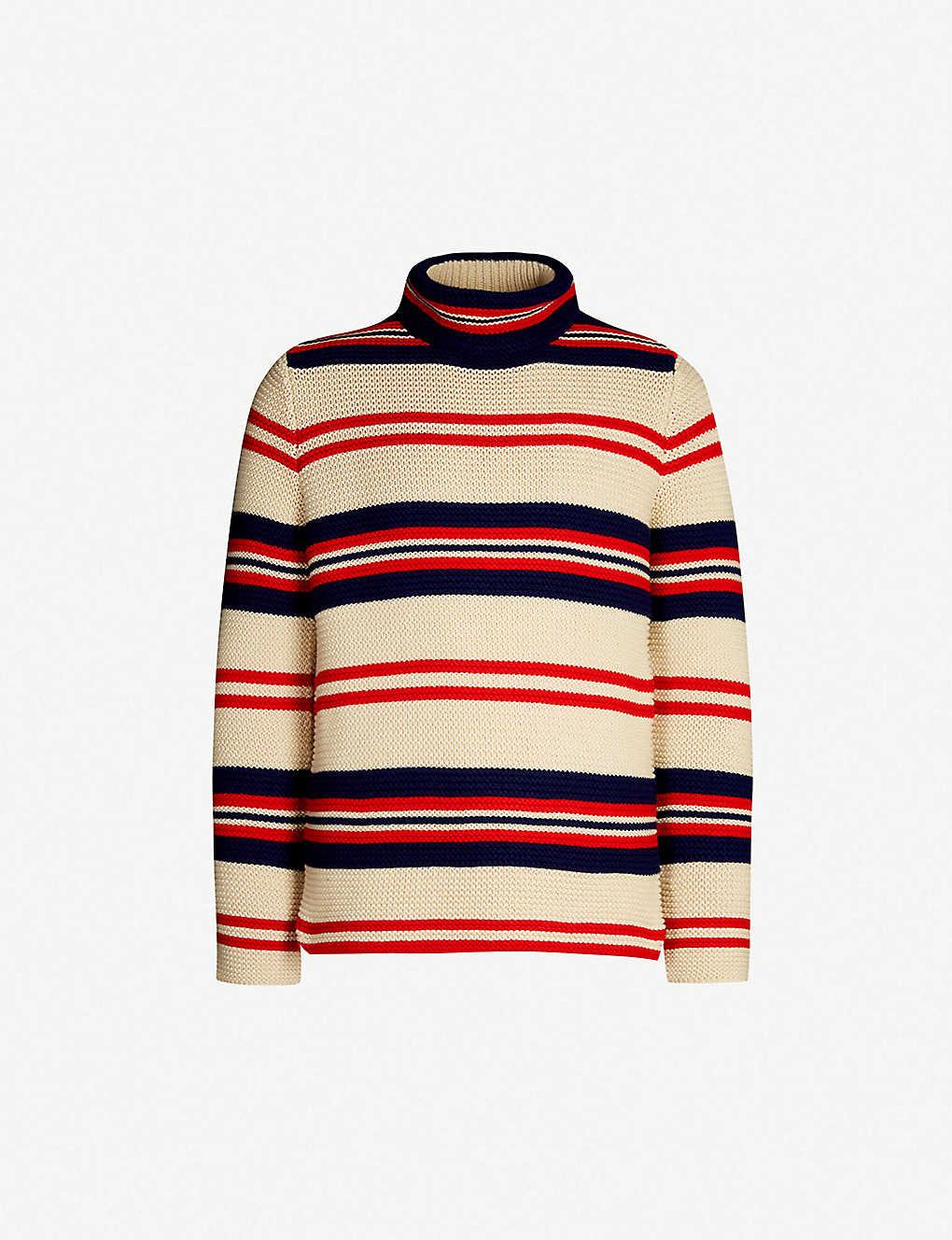 9470bcf6afe Striped turtleneck cotton and wool-blend jumper