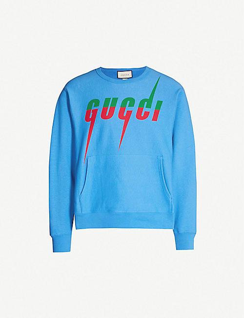 b0eddfd04 GUCCI Logo-print cotton-jersey sweatshirt