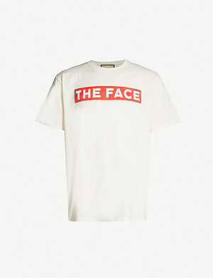 GUCCI The Face cotton-jersey T-shirt