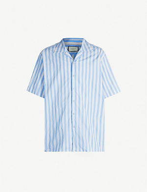 GUCCI Bowling stripe relaxed-fit cotton shirt