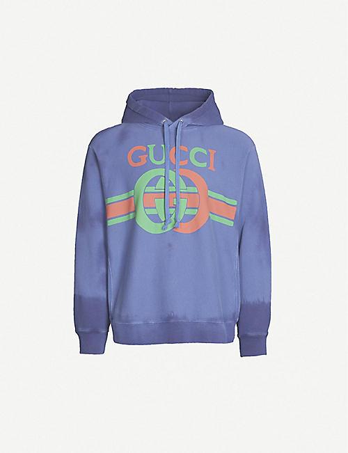 ce8dc6e2e GUCCI Tie-dye logo-print cotton-jersey hoody