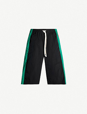 GUCCI Side-stripe shell shorts