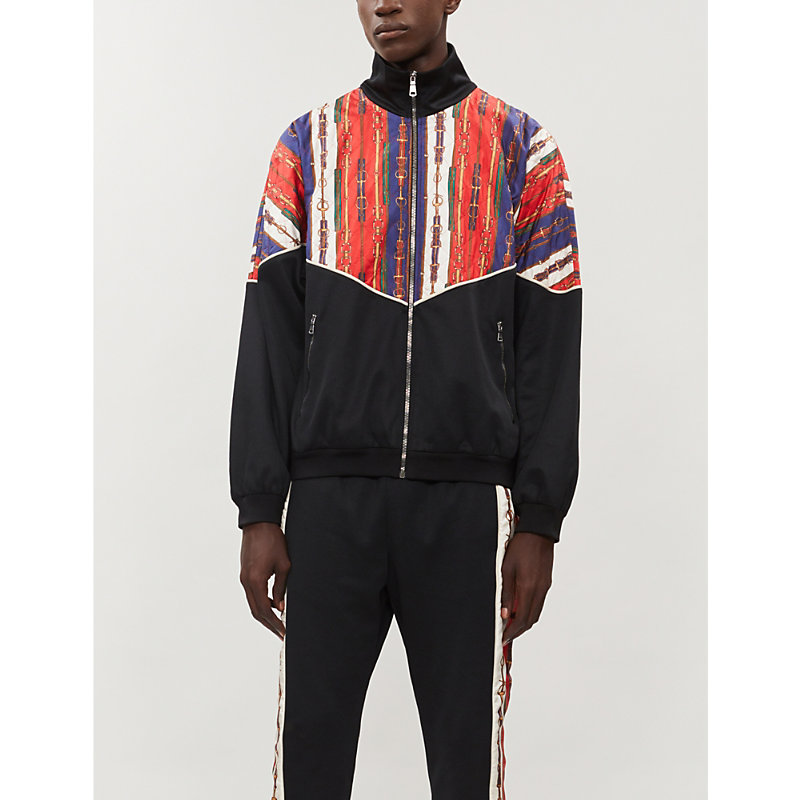 Gucci Jackets QUILTED SATIN AND STRETCH-JERSEY JACKET