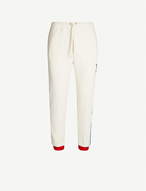 GUCCI Side-stripe cotton jogging bottoms