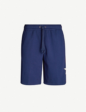GUCCI Side-stripe cotton basketball shorts