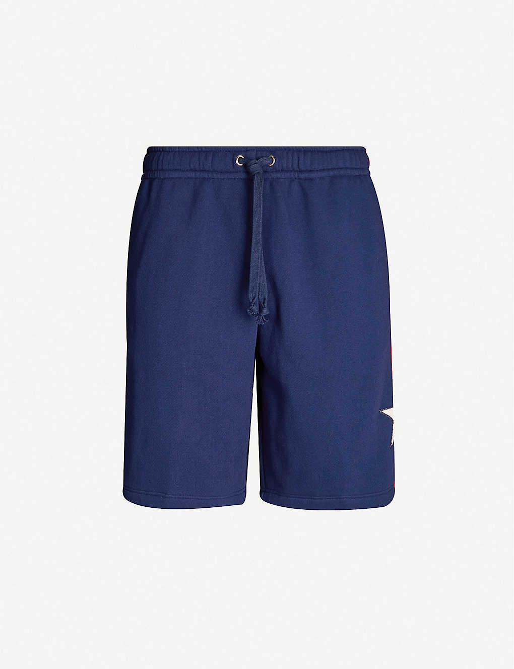 GUCCI: Side-stripe cotton basketball shorts