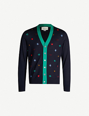 GUCCI Graphic-embroidered XX cardigan