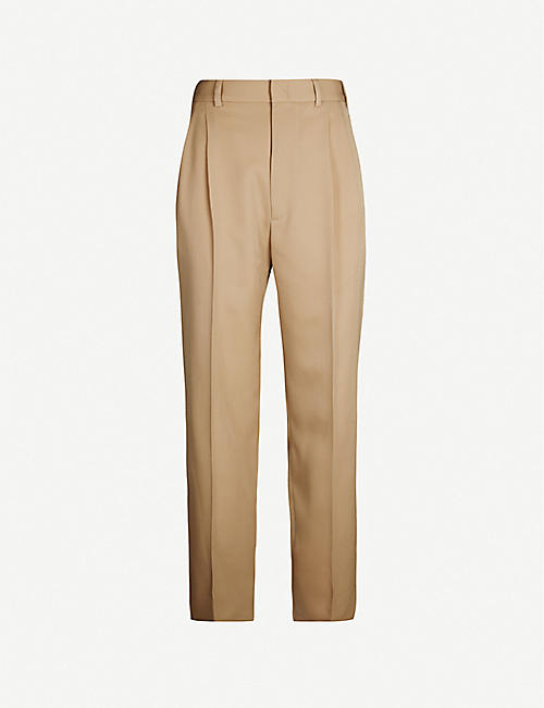 GUCCI Slim-fit tapered wool trousers
