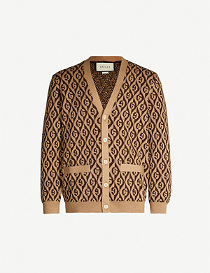 GUCCI Logo knit wool cardigan