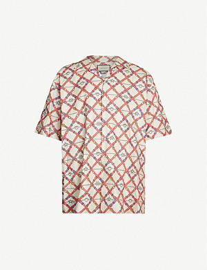 GUCCI Graphic-print relaxed-fit woven shirt