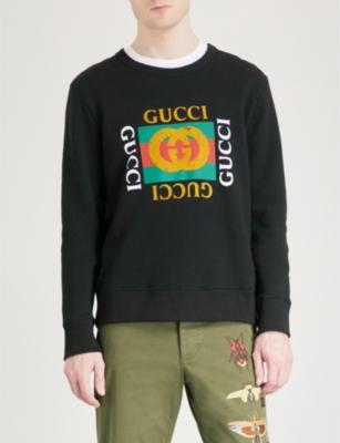 fa2750f9308b GUCCI - Fake Gucci cotton-jersey sweatshirt | Selfridges.com