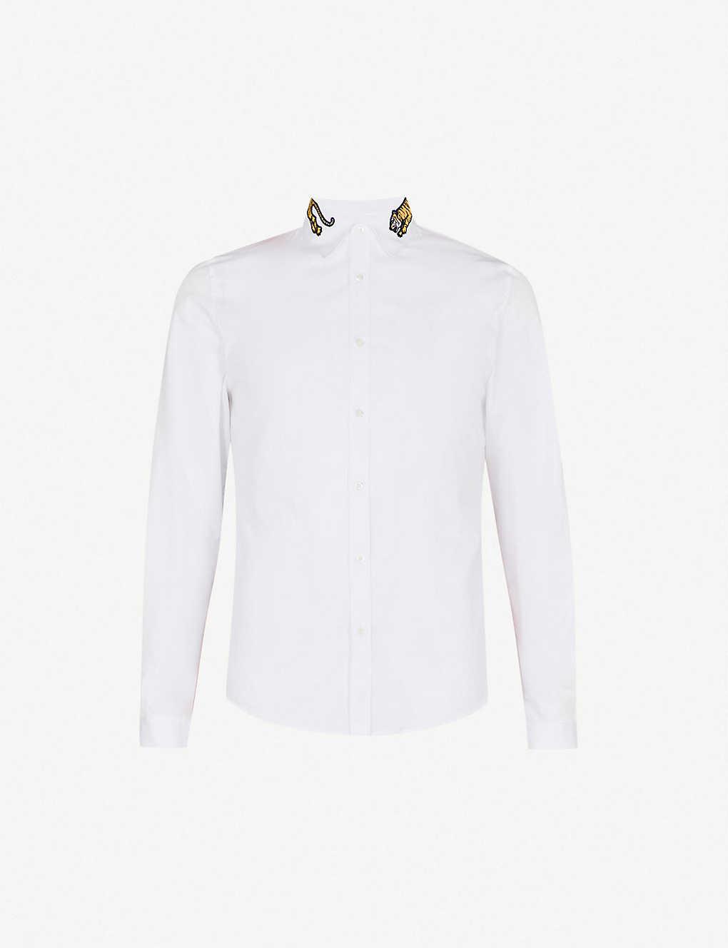 7ebb2f80 ... Duke tiger-embroidered regular-fit cotton-poplin shirt zoom ...
