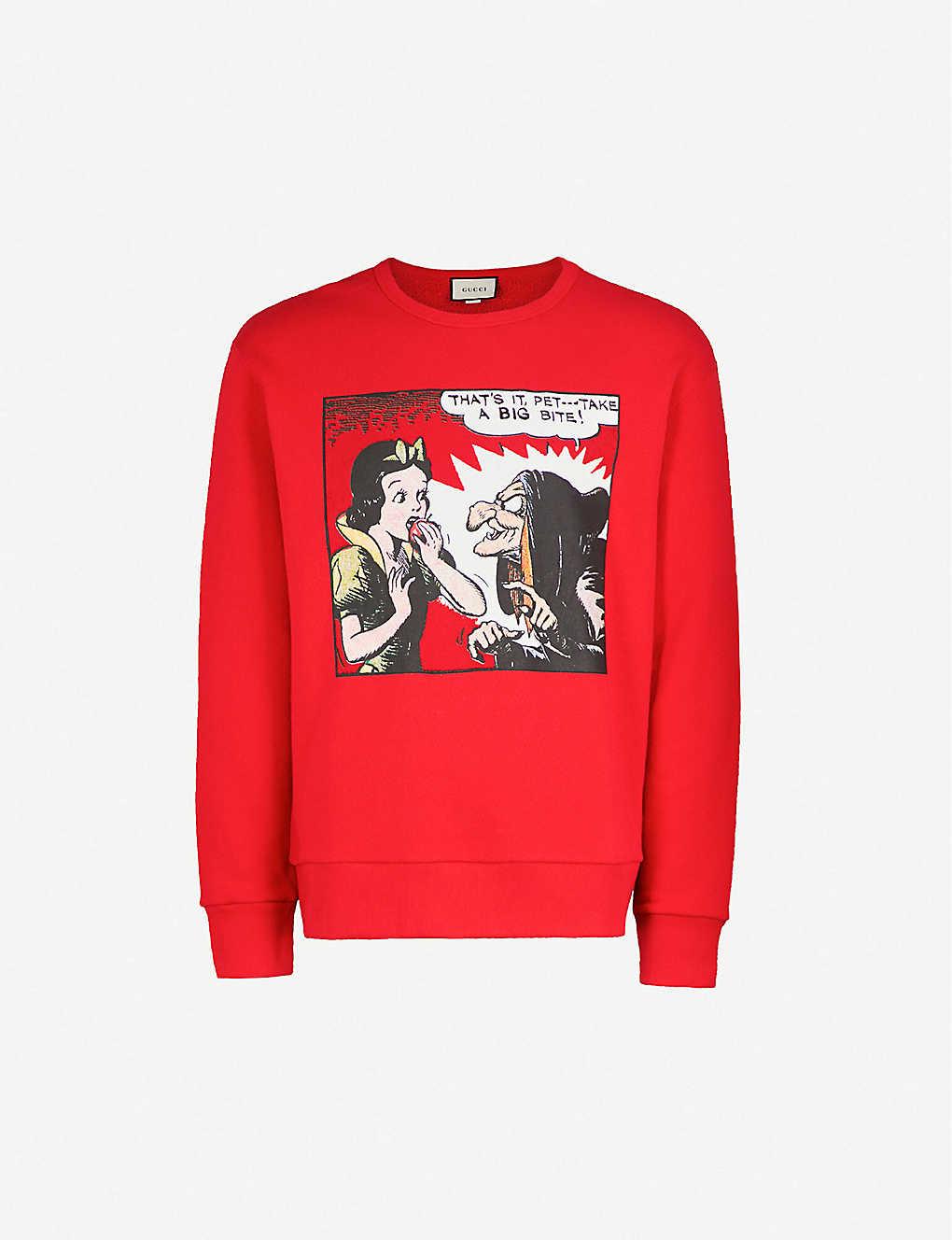 569ac6a0 GUCCI - Snow White cotton sweatshirt | Selfridges.com