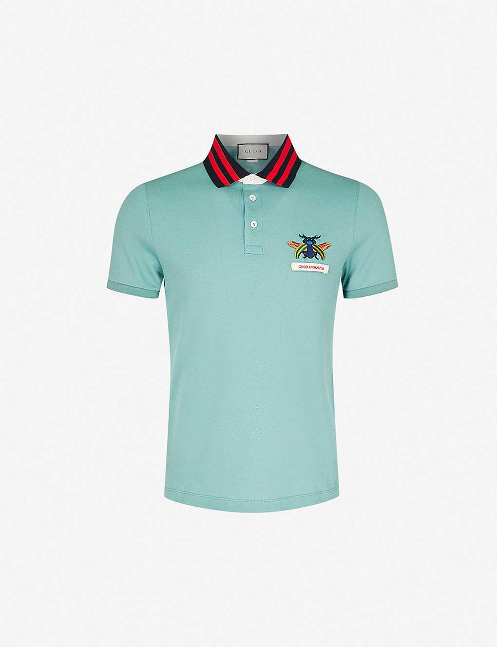 841bc9702 GUCCI - Gucci Animalium stretch-cotton polo shirt   Selfridges.com