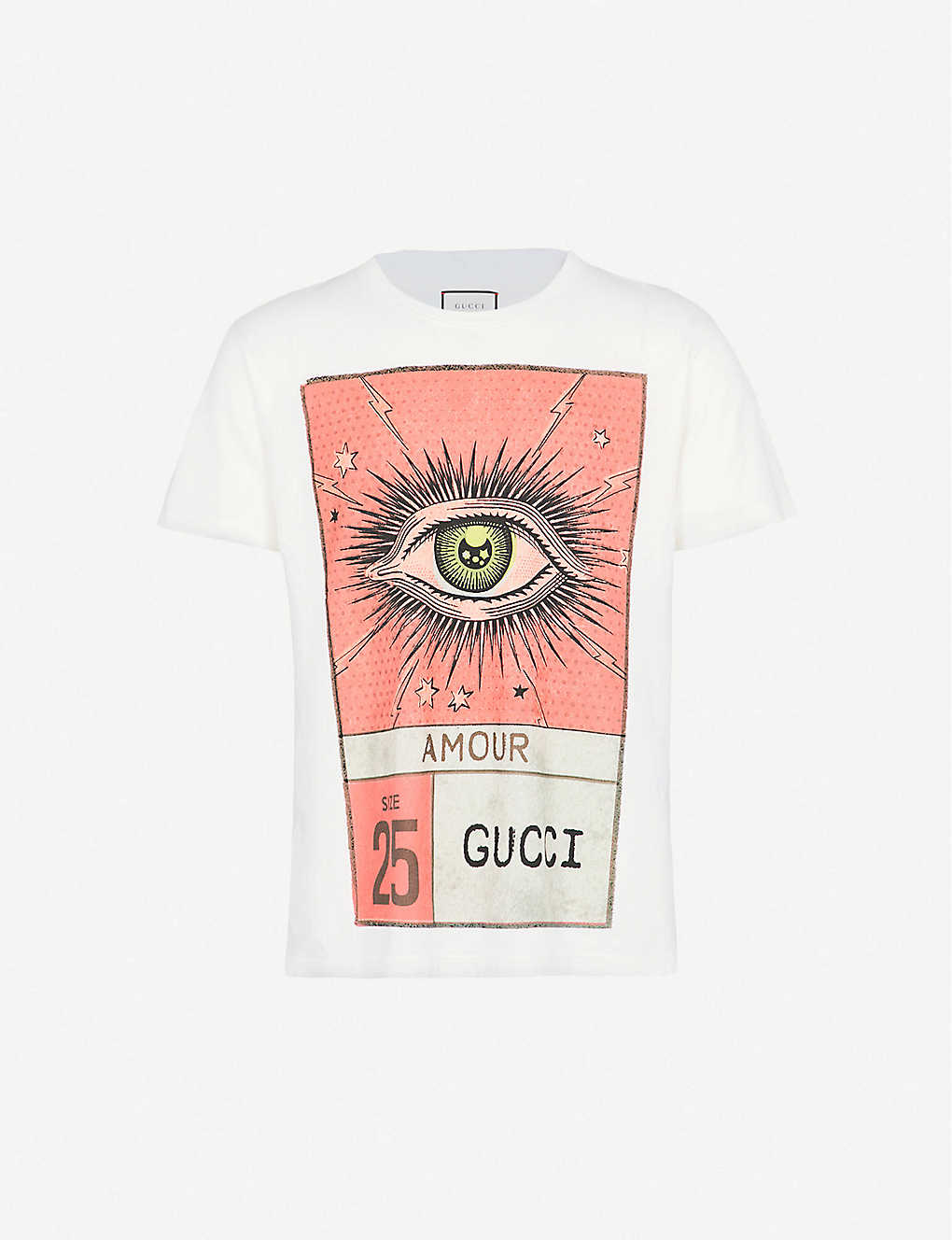 11184bc94 GUCCI - Eye print cotton-jersey T-shirt | Selfridges.com